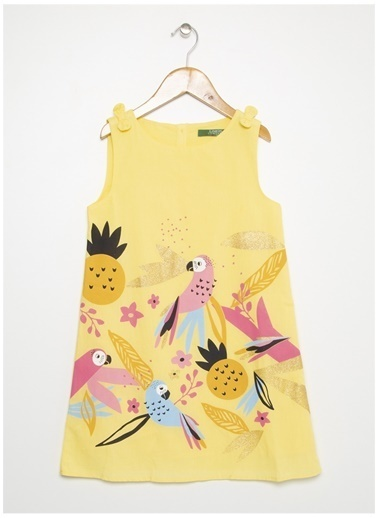 Limon Company Limon Kız Çocuk Açık Sarı Elbise Sarı